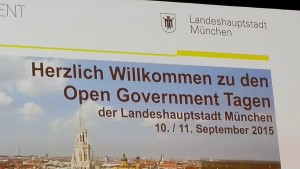 Open Government Tage München 2015