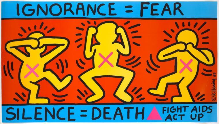 ignorance=fear Keith Haring zu act up